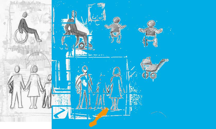 westbahn. design, leitsystem, wegeleitung, piktogramme
