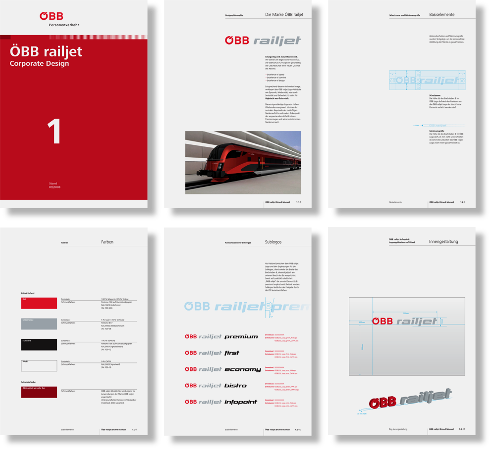 OEBB railjet, brand manual, design
