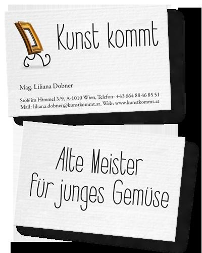 Kunstkommt_Visitenkarten_design