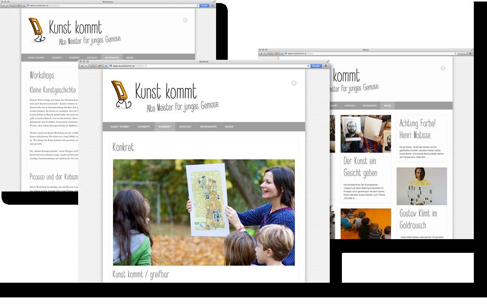 Kunstkommt_Webdesign_Webseite_design